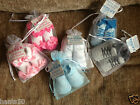 Soft Touch Baby Girls / Boys Pretty Gift Socks In Organza Pouch * 6-12 Months *