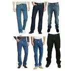MENS NEW LEE STRETCHABLE BROOKLYN STRAIGHT REGULAR FIT JEANS 30 TO 48 BIG WAISTS