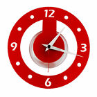 Roco Verre Acrylic Atom Clock In Red,Black or White
