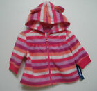 Old Navy Girls Striped Pink and Purple Fleece Jacket size 0-3 mos, 3-6 mos