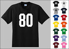 Number 80 Eighty Sports Number Youth Jersey T-shirt Front Print