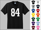 Number 84 Eighty Four Sports Number Youth Jersey T-shirt Front Print