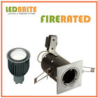SQUARE FIRE RATED LED DOWNLIGHTS 240V MAINS GU10 FIXED 4W - 7W DIMMABLE