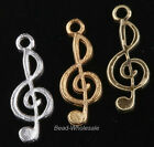 10pcs Hotsale Music Notation Necklace Pendant For Jewelry DIY Charm Connectors