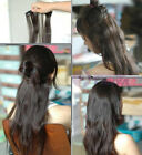 "Free Shipping! 16""-28"" One Piece 5 Clips Clip-in Cheap Human Hair Extension 120g"