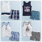 "2 Pcs NWT Vaenait Baby Toddler Kids Boy Sleeveless Outfits Homewear""2013 Summer"""