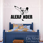 Karate Martial Arts Wall Room Personalized Custom Name Vinyl Wall Decal Sticker