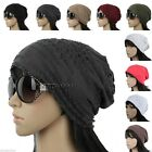 E1026 UNISEX BEANIE KNIT HAT WOMEN MEN SLOUCH BAGGY SPRING SUMMER WASHED CAP