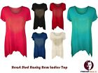 New Womens Top Heart Studdded Hanky Hem Ladies Tunic Fashion Plus Size 14-28