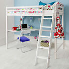 High Sleeper Cabin Bed with Desk - in Choice of Colours - High Sleeper