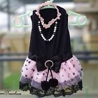 NEW Princess Dog Dresses Ruffle Lace Pet Dresses Prom Party Dresses Black