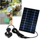 9 Types Solar Panel Powered Fountain Garden Pool Pond Water Pump Spray Features