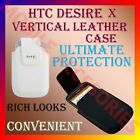 VERTICAL LEATHER CARRY CASE POUCH COVER for HTC DESIRE X MOBILE PROTECTION NEW