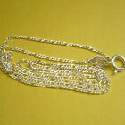 """.70MM 925 STERLING SILVER FIGARO LINK NECKLACE (CHAIN) 16""""/18"""""""