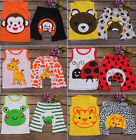 New 3 M-3Years Baby (Vest + Pant)  Animals Cotton  PP  Outfit Set Clothes BA012