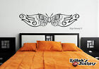 bedrooms with teal walls - BUTTERFLY HEART WITH STARS Vinyl Wall Decal bedroom headboard sticker art B073