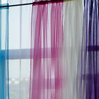 1 Pcs. Sheer Voile Window Curtains Gauze 20 Different Colors New Curtian F377
