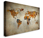 Vintage World Map Patchwork Style Wall Picture Prints Canvas Art Cheap