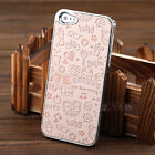 Luxury Cute Girl  Leather Chrome Back Hard Case Cover For iPhone 5 5G + LCD Film