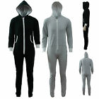 Mens Ladies Unisex Hodded Zip Onesie Jumpsuits Womens All In One Playsuits 8-14