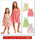 SEWING PATTERN! MAKE DRESSES~SUNDRESSES! CHILD 3 TO GIRL 14!  FUN SUMMER CLOTHES