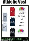 NEW PERSONALISED vest 100% cotton Design your own athletic vest WITH TEXT / LOGO