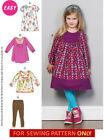 RETIRED SEWING PATTERN! MAKE DRESS~TOPS~LEGGINGS! SIZE 1~3 OR 4~6! SCHOOL OUTFIT