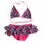 Girls Kids Flower Floral 2PCs Bikini Swimsuit Swimwear Swimming Costume SZ 2-8