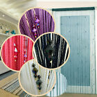 Sparkle Beaded String Door Curtain Divider Window Room Blind Tassel Fly Screen