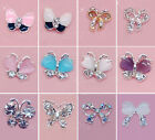 10PCS 3D Butterfly Crystal Alloy Nail Art Phone Rhinestones Jewellery Decoration