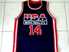 ALONZO MOURNING #14 TEAM USA BASKETBALL JERSEY NEW NAVY BLUE - ANY SIZE