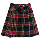 "Tartanista Long Black Stewart Red Tartan/Plaid 23"" Wrap Kilt Skirt"