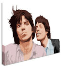 Mick Jagger and Keith Richards / Rolling Stones Canvas Pictures Wall Art Prints