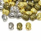 20Pcs New Tibetan Silver Gold Buddha's Head Loose Beads For Jewelery DIY Charms