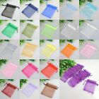 30/100Organza Christmas Wedding Favors Jewelry Pouches Candy Gift Bags,18Colors