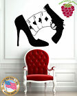 Wall Stickers Vinyl Decal Guns Cards Women Shoe Poker James Bond z734 $29.99 USD on eBay