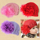 Hot Sale Sweet Cute Crochet Flower Beanie Hat Cap Newborn Baby Toddlers Girls