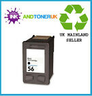 HP 56 C6656AE BLACK INK INKJET CARTRIDGE REMANUFACTURED ORIGINAL HP56