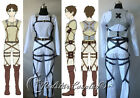 Attack on Titan Shingeki no Kyojin Belts and harness Cosplay Straps & Skirt VerA