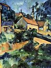 PAUL CÉZANNE ROAD CURVE IN MONTGEROULT OLD MASTER ART PAINTING PRINT