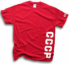 Mens Womens CCCP Soviet Union Communist Russia T Shirts Side Cntr Sleeve Prints