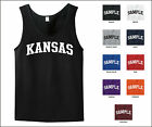State of Kansas College Letter Tank Top Jersey T-shirt