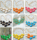 Fashion Chunky Teardrop Necklace Bubble Bib Statement Necklace Pendant