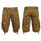 BRAND NEW MENS ETO EMS253 CARAMEL CARGO SHORTS   BARGAIN REDUCED PRICE £14.99