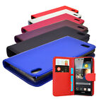 6 COLOUR PU LEATHER WALLET FLIP MOBILE PHONE CASE COVER FOR HUAWEI ASCEND P6