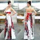 Ever Pretty Strapless Floral Printed Rhinestones Maxi Long Evening Dresses 09972