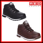MENS BLACK CASUAL WALKING SCHOOL WORK OFFICE ANKLE  HARD GRIP BOOTS  SIZE 6-11