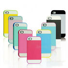 Multi Tone Combo Matte Soft TPU Bumper Hybrid PC Case Cover For IPHONE 5 5G 5C