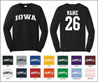 State of Iowa Custom Personalized Name & Number Long Sleeve T-shirt
