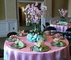 """10 x SATIN SQUARE 90x90"""" TABLE OVERLAYS Wedding Party Toppers Decorations SALE"""